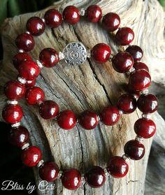"Dyed Ruby Quartzite ""Sun Chakra"" Stretch Bracelet Duo - Reiki, Energy, Spiritual, Yoga, Meditation, Boho *FREE SHIPPING*  by BlissbyCori on Etsy $50.00"