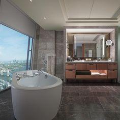Bathroom at The Shangri La at The Shard Hotel, London