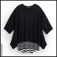 +++ SEELENLOOK #NEWS +++ Neu im Onlineshop: Überweiter Jersey-Top von Luba, Schwarz, Gr. 48-58. Preis: 149,90€ (inkl. MwSt.) Kostenloser Versand in Deutschland!   Direktlink zu Neuheiten:  https://seelenlook.de/damenmode-neuheiten   #Lagenlook #Plussize #Fashion #Mode #Style