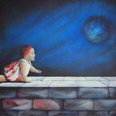 GaeTano & Valentina, SELENE (VARIAZIONE)  ©2014, acrylic on canvas, 100 x 100 x 3.8 cm - 39.4 X 39.4 x 1.50 inch  #SCENOGRAPH2ART #GaeTanoAndValentina #Sem #painting #FineArt #Arte #فن #Kunst #艺术 #AcrylicOnCanvas #искусство #acrylic #アート #pittura #peinture #GaeTanoeValentina #Ceruleo #BlueReal