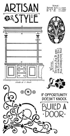 Hampton Art Cling Stamp 1 from Artisan Style, a new collection from Graphic 45. Look for it in stores in mid-February! #graphic45 #sneakpeeks