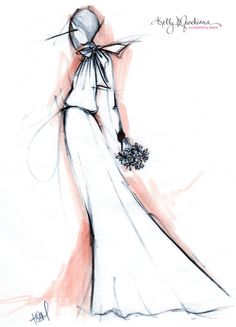 Custom Bridal Illustration by KellyMuschiana on Etsy