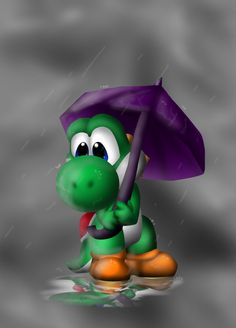 La la la~ Just Yoshi with an umbrella |3 I'm working on my comic pages again =3 c by nintendo