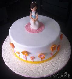 Girl First Communion Cake - Torta de Primera Comunión Niña
