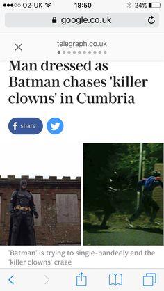 "clarkent: "" aa2124: "" when you think the clown craze can't get any weirder "" R I S E. """