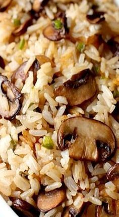 Spicy Mushroom Rice- very easy and so so delicious! Lots of flavour 🙂 Great the next day with some pork added in. Spicy Mushroom Rice- very easy and so so delicious! Lots of flavour 🙂 Great the next day with some pork added in. Side Dish Recipes, Vegetable Recipes, Vegetarian Recipes, Cooking Recipes, Healthy Recipes, Cooking Ideas, Easy Recipes, Recipes Using Rice, White Rice Recipes