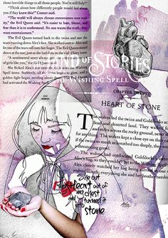 """Illustration inspired by Chris Colfer's """"The Land of Stories: the Wishing Spell"""" (The Evil Queen).  Heart of Stone."""