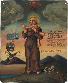 mexican painting portraits saints retablos - Google Search