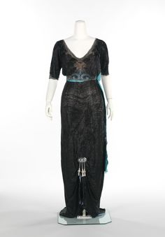 Evening Dress Georges Doeuillet (French) ca. 1910-13 silk, rhinestones