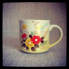 Vintage Flower & Bird Mug by sparkhausvintage on Etsy, $6.50
