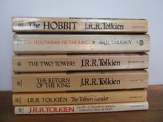 Vintage J. R. R. Tolkien Book Set by jessamyjay on Etsy. This set of six books are all penned by author J. R. R. Tolkien of Lord of the Rings fame. Included are the prelude and all three editions of the LOTR tales; The Hobbit, The Fellowship of the Rings, The Two Towers and Return of the King.