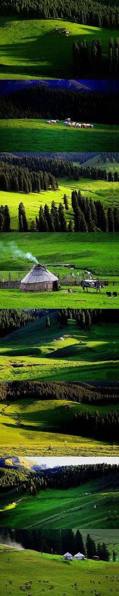 My hometown - Sinkiang (Xinjiang, in Chinese Pinyin)