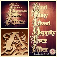 And They Lived Happily Ever After Fairytale Wedding Anniversary Love Papercut on Etsy, $69.90