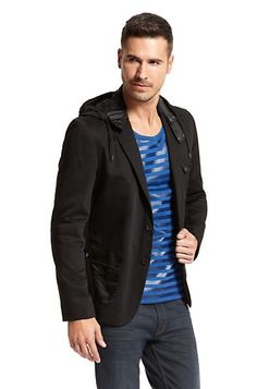 Regular Fit Hooded Cotton 'Armino' Sport Coat by HUGO