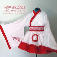 Okami Amaterasu Ammy Cosplay Kimono Dress Wa Lolita Skirt Accessory | Darling Army