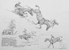 Cowboy Art, Western Cowboy, Horse Cartoon, Paul Brown, Horse Posters, Horse Books, Horse Portrait, Brown Horse, Vintage Horse