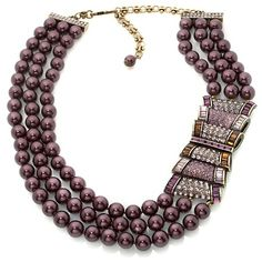 "Heidi Daus ""Passion For Pretty"" 3-Row Station Necklace"
