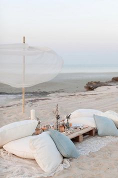 picnic en la playa romántico