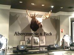 Color combos, light gray walls, do gray ceiling, white trim, black shine accents, abercrombie and fitch store interior - Google Search
