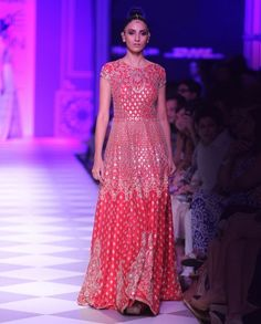 Scarlet Red Embroidered Gown - Anita Dongre - Designers