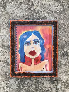 Frais Gal by Maria Tokareva  10 x 12 Mixed media  2017 Available for sale