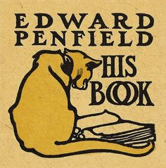 Bookplate of American painter and illustrator Edward Penfield (1866-1925)  Between ca. 1900 and 1925