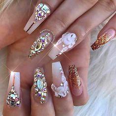 "1 Me gusta, 1 comentarios - Karii Jms (@kariii017) en Instagram: ""#Crystals #Elegant pagina de facebook  @fashionNailArts"""