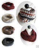 30-Minute Infinity Scarves Crochet Patterns [PB086] - $6.99 : Maggie Weldon, Free Crochet Patterns