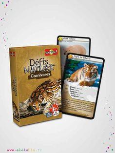 Le jeu de cartes Défis Nature – Carnivores, vous emmènera à la rencontre des carnivores les plus surprenants de notre planète.
