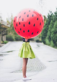 strawberry balloon // love this for a kid's party