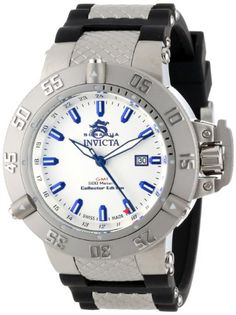 Men's Wrist Watches - Invicta Mens 13920 Subaqua Noma III GMT Silver Dial Black Polyurethane Watch ** Read more at the image link. (This is an Amazon affiliate link)