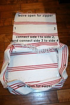 Wanna know how a couple of these striped rugs become this cushy piece of bum lovin'? Well, sit down and relax.  Let me start from th...