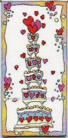Buy Celebration Cake Cross Stitch Kit Online at www.sewandso.co.uk