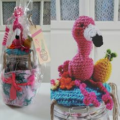 Crochet Jar Covers, Christmas, Pink, Etsy, Om, Kitchen, Amigurumi, Free Pattern, Xmas