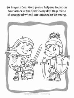 Two coloring pages with a prayer.
