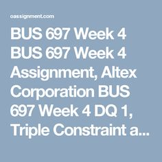 """bus 697 week 1 dq 2 Bus 697 week 2 dq 2 pm culture $ 400 quantity buy ready solution now reviews (0) reviews there are no reviews yet be the first to review """"bus 697 week 2 dq 2 pm culture"""" cancel reply your email address will not be published required fields are marked."""