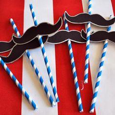 pencil thin moustache  #polkadotdesign #summerparty