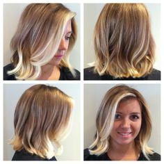 Blonde Ombre hair, Wavy Bob!  by Katt Salon De Cinzia Newton, MA