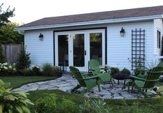 My Design Studio: Before, During (see blog for her before pix - it was a shack on a concrete pad)