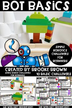 Simple Robotics challenges for beginning programming in Kindergarten, First Grade, and Second Grade! Compatible with almost any driving, programmable robot. Dash And Dot Robots, Dash Robot, Robotics For Beginners, Maze Maker, Stem Classes, Enrichment Activities, Teacher Lesson Plans, Coding For Kids, Programmable Robot