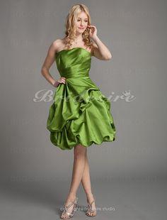 06c5c0b84431 Bridesire - Trapezio Raso Al ginocchio Senza Spalline Bridesmaid  vestito  cocktail  172186  - €78.91   Bridesire