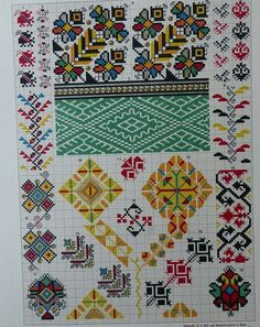 Cross Stitch Borders, Cross Stitch Charts, Creative Embroidery, Hand Embroidery, Wedding Day Timeline, Knit Mittens, Needlework, Bohemian Rug, Diy And Crafts
