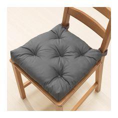 IKEA MALINDA chair cushion Hook and loop fasteners keep the chair cushion in place.