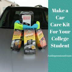 Make A Car Care Kit For Your College Student with products found @Walmart #1stImpressionsCount #ad #CollectiveBias
