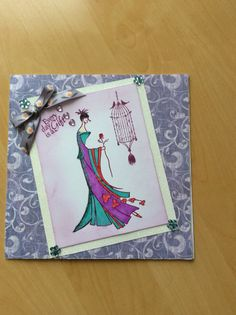 Crafters companion kimono stamps and backing papers.