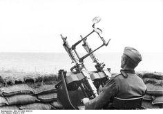 Montaje antiaéreo doble de una MG-34.