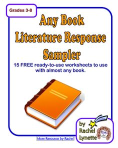 """FREE LANGUAGE ARTS LESSON - """"FREE Any Literature Sampler - 14 Printable Pages!"""" - Go to The Best of Teacher Entrepreneurs for this and hundreds of free lessons.   #FreeLesson   #TeachersPayTeachers   #TPT   #LanguageArts  http://thebestofteacherentrepreneurs.blogspot.com/2012/09/free-language-arts-lesson-free-any.html"""