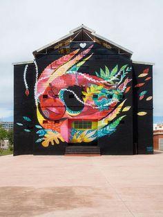 """Nightbird"" by Julieta XLF in Sagunto, Spain."