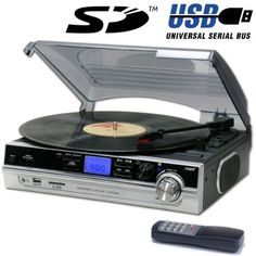 Steepletone Record Player Turntable   MP3 Recording andamp