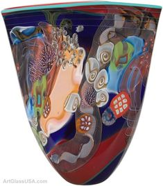 Wes Hunting - Color Field series glass art vases